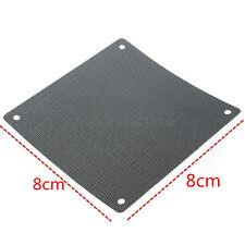 Cuttable PVC PC Fan Dust Filter Dustproof Case Computer Mesh 80/120/140mm Black 8cm 2pcs