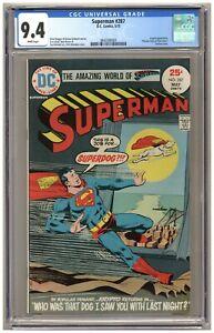 Superman 287 (CGC 9.4) Krypto; Dick Giordano cover; Curt Swan art; DC; 1975 B119