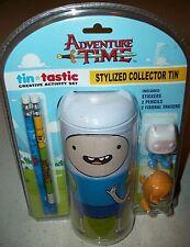 Adventure time Back To School Collector Tin Pencil box case erasers Xmas Gift