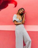 Billabong x Sincerely Jules BNWT Linen Blend Women's Size Medium Jumpsuit