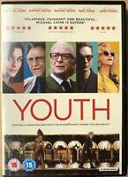 Youth DVD 2015 Paolo Sorrentino Health Farm Drama w/ Michael Caine Harvey Keitel