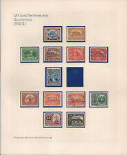 OPC 1912-1941 Guatemala 3 Page Official Perfin Collection