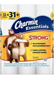 Charmin Essentials Strong 12 Giant Rolls =31 Regular Roll