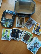 Topps star wars force attax Cards and collectors tin