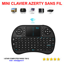 CLAVIER SANS Fil AZERTY pour Box Android  / PC / MAC / SMART TV /  TOUCHPAD