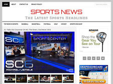 [NEW DESIGN] * SPORTS NEWS * blog website business for sale w/ AUTOMATIC CONTENT