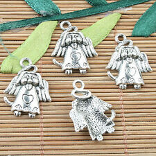 Tibetan Silver color cartoon animal design charms 12pcs EF0016
