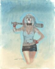 Harley Quinn from Suicide Squad Painted Art Commission Signed art by Esad Ribic