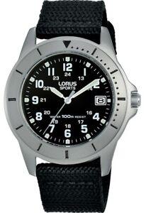 Lorus Sports Gents Date Webbing Strap Watch RS935DX9 NEW