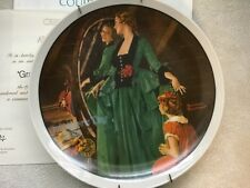 Norman Rockwell decorative plate Grandma's courting dress art collectible wall