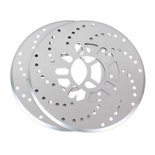 "2Pcs Silver Universal Car Automotive Wheel Disc Brakes Decorative Cover 10.2"""