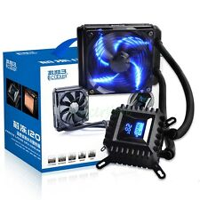 Water Cooling Cooper Radiator Liquid CPU Cooler 120mm LED PWM Fan For AMD Intel
