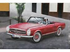 """Metall - Wandbild """"Mercedes Benz SL - Pagode"""""""