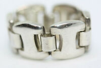New 925 Sterling Silver Flexible Chain Band Girls Ladies Small Ring Size 4 NWT