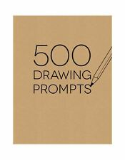Piccadilly Sketchbook, 500 Drawing Prompts Notebook tan