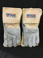 2 Pairs Big Jake MCR Safety Gloves 1714, Made W/ Kevlar, Heat Resistant, Leather