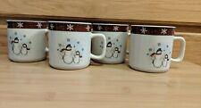 Vintage Royal Seasons 4 Piece Tea / Coffee Cups Snowman Discontinued Design