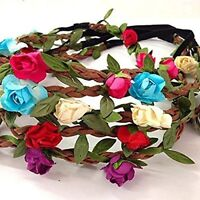 Halo USA Lot of 12pc Paper Floral Flower Full Crown Party Bride Wedding