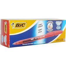4 X 20 Bic cristal clic Rodillo De Tinta Gel Bolígrafo Retráctil Súper Suave Bolígrafo