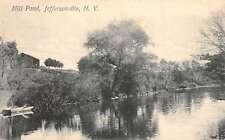 Jeffersonville New York Mill Pond Waterfront Antique Postcard K60688