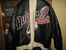 Avirex Leather Jacket All American Football league NY Classic Black XXXL