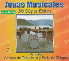 Marimbas Corona de Tapachula y Perla de Chiapas 30 Super Exitos Joyas 3CD New