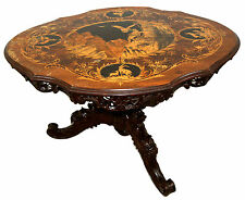 Black Forest Marquetry Table c. 1880 #7704