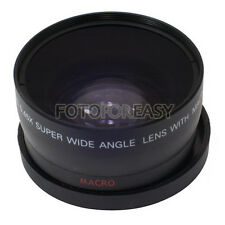 52mm 0.45x 52 Wide Angle & Macro Conversion Lens with 62mm Front Thread + Caps