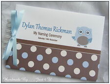 PERSONALISED BOYS CHRISTENING/ NAMING DAY / GUEST BOOK /PHOTO ALBUM/SCRAPBOOK