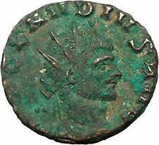 CLAUDIUS II Gothicus Ancient Roman Coin Nude Sol Sun God w globe  i34533