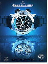 PUBLICITE ADVERTISING 114  2008  JAEGER-LECOULTRE  montre  MASTER COMPRESSOR DIV
