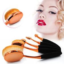 5pcs Pro Makeup Brushes Oval Cream Puff Toothbrush Brush Foundation Brush Kit
