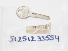 NOS GENUINE NEIMAN BMW MOTORCYCLE BLANK KEY LOCK 51251233554 R65 R80 R100 K100