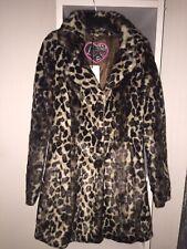 Lipsy Leopard Print Faux Fur Coat