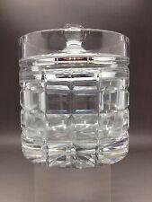 SUPER Lidded Cut Glass Pot-dimensioni utili: 12,5 cm Tall