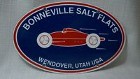 VINTAGE BONNEVILLE SALT FLATS PORCELAIN SIGN GAS MOTOR OIL SERVICE STATION PUMP