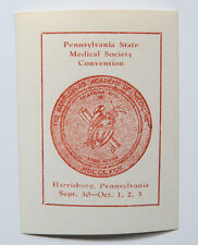 Poster Stamp Cinderella Pennsylvania State Medical Society Convention Harrisburg
