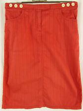 Unifarbene knielange Damenröcke im Tulpenschnitt-Stil aus Baumwolle