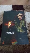 1/6 HOT TOYS Resident Evil 5 BIOHAZARD Chris Redfield stelle Figura-Nuovo di Zecca
