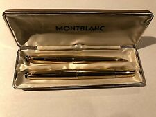 Montblanc Rolled Gold Ballpoint Pen & Fountain Pen #82 & # 88 (From the 60's)