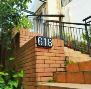 LED House Number Plaque Sign Solar Power Lighting Street Digital Hotel Address