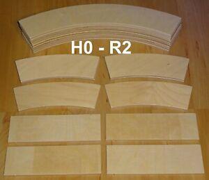 Auffahrt-Set Spur H0 für R2 / 19-teilig für Gleiswendel