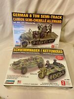Lindberg German 8 Ton Semi-Track 1/72 Model Kit motorcycle amphibious vehicle