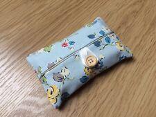 Packet Tissue Holder Handmade Using Cath Kidston Blue Woodland Rose Fabric