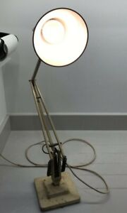 HERBERT TERRY ANGLEPOISE LAMP 1227 CREAM 2 TIER BASE VINTAGE PROJECT - WORKING