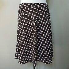 KENZO Dark Brown Pink Polka Dot A Line Skirt Size 42 - US 6 - 100% Silk