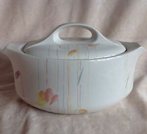 MIDWINTER STYLE CALYPSO TWO HANDLED LIDDED SERVING DISH/TUREEN EXCELLENT