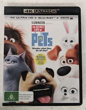 THE SECRET LIFE OF PETS 4K ULTRA HD + BLU-RAY oz seller 4K UHD HDR DVD