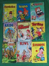 Lot of 9 FRENCH LANGUAGE COMICIS Lasso KIWI Scoubidou BAMBOLINA Bimbo & More!