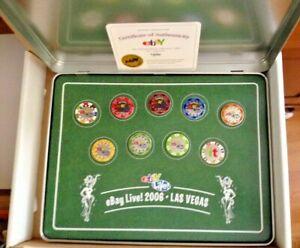ebay LIVE Las Vegas 2006 Poker Chip PIN SET - rare etched case